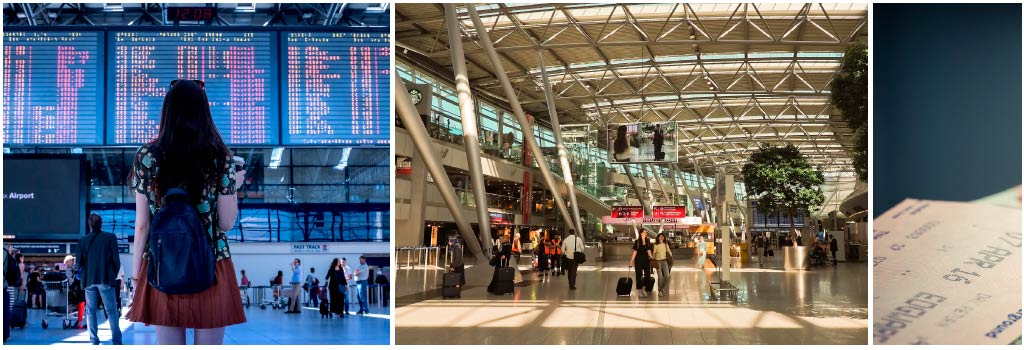 Presentar el pasabordo de vuelo en el aeropuerto